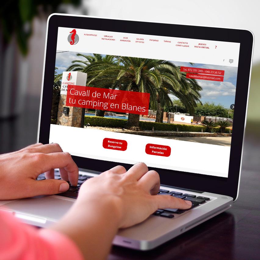 desarrollo web camping cavall de mar