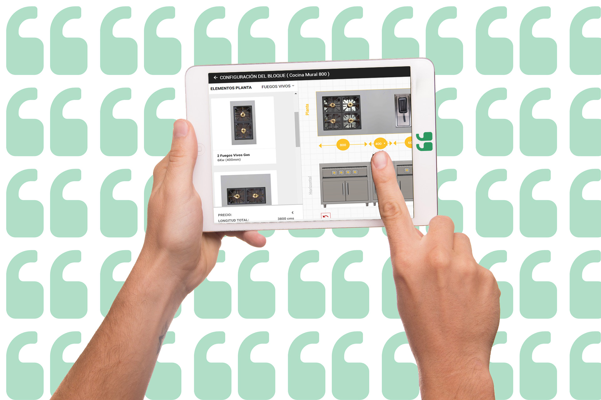 Configurador de cocinas online para el sector profesional for Configurador de cocinas ikea